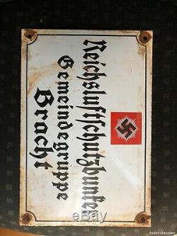 Plaque émaillée allemande ww2 parti nazi ancienne d origine militaria seconde