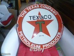 Plaque émaillée américaine TEXACO 50cm
