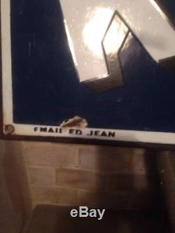 Plaque emaillee ancienne