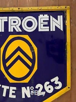Plaque émaillée ancienne 1930 CITROËN 90x80CM