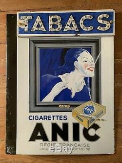 Plaque émaillée ancienne 1934 CELTIQUES & ANIC 65x50cm