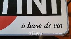 Plaque émaillée ancienne 1955 MARTINI 66x30cm apéritif a base de vin rare