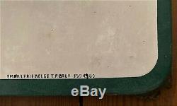 Plaque émaillée ancienne 1960 COCA-COLA 145x48cm + Platre publicitaire offert
