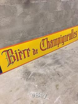 Plaque emaillee ancienne Bière De Champigneulles Paul MOHR Hercule