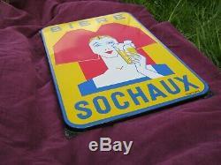 Plaque émaillée ancienne Bière Sochaux
