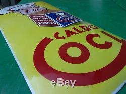Plaque émaillée ancienne CALDO COCI, bombée