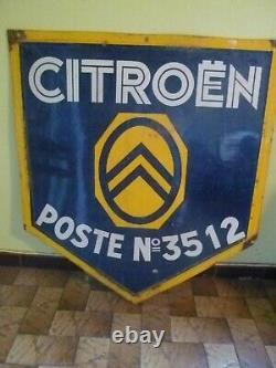 Plaque émaillée ancienne Citroën