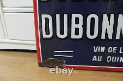 Plaque émaillée ancienne DUBONNET, idéal déco cuisine, bistrot, loft etc