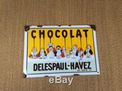 Plaque emaillee ancienne Delespaul