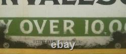 Plaque émaillée ancienne GÉANTE! WINGARNIS 100 x 180 Enamelled plaque