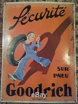 Plaque emaillee ancienne Goodrich
