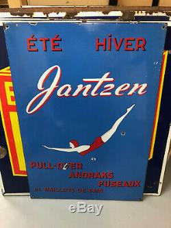 Plaque emaillee ancienne Jantzen
