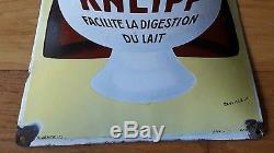Plaque emaillee ancienne Malt Kneipp pub ancienne signée Beuville