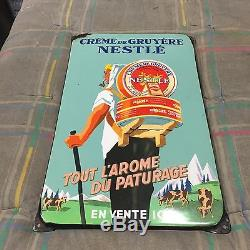 Plaque emaillee ancienne Nestle