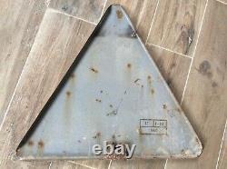 Plaque émaillée ancienne PASSAGE ENFANT ECOLE, signalisation routière