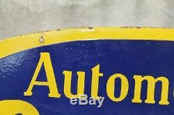Plaque émaillée ancienne PEUGEOT, garage vintage! Publicité