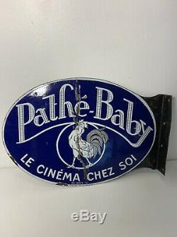 Plaque emaillee ancienne Pathé Baby