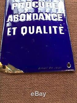 Plaque emaillee ancienne Potasse D Alsace