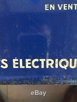 Plaque emaillee ancienne Tole Peinte Bougie Marchal