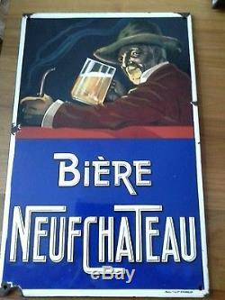 Plaque emaillee ancienne bière neufchateau