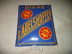 Plaque émaillée ancienne biére Adelshoffen