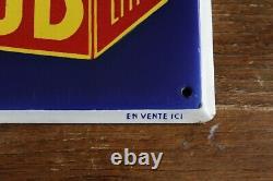 Plaque émaillée ancienne bouillon KUB, idéal deco cuisine, loft, collection