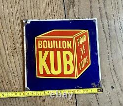 Plaque emaillee ancienne bouillon kub
