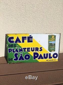 Plaque emaillée ancienne café Sao Paulo EAS