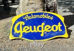 Plaque emaillee ancienne garage Peugeot