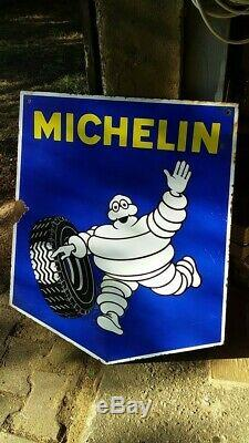 Plaque emaillee ancienne michelin