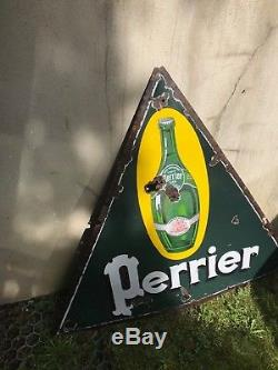 Plaque emaillee ancienne perrier