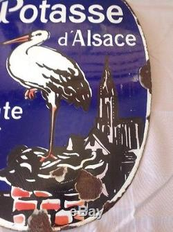 Plaque emaillee ancienne potasse Alsace