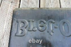 Plaque émaillée ancienne rectangulaire huile BRET-OIL Emaillerie Alsacienne Stra