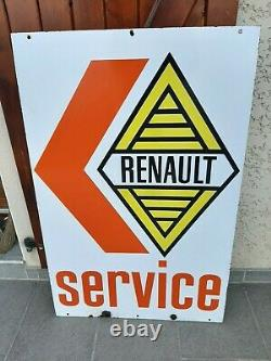 Plaque emaillee ancienne renault