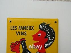 Plaque emaillee ancienne vin picardy