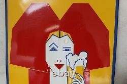 Plaque émaillée bière LUTTERBACH, ideal deco, loft, cuisine etc