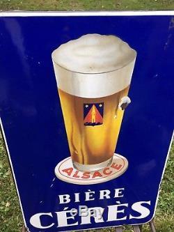 Plaque émaillée bière ceres brasserie de lachapelle