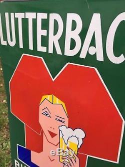 Plaque émaillée bière de Lutterbach