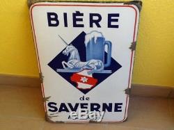 Plaque émaillée bière de saverne Alsace EAS