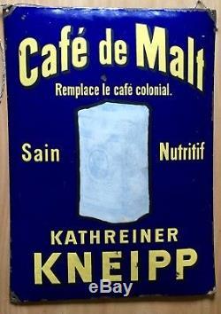 Plaque émaillée bombée Café de Malt Kneipp
