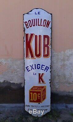 Plaque emaillée bouillon kub 10c en 2 mètres 1910/1920 objet pub bistrot bar