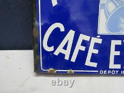 Plaque emaillee cafe angelus rennes