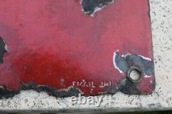 Plaque emaillée castrol rouge 1930 collector huile garage automobile moto