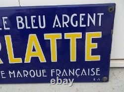 Plaque émaillée chicorée ARLATTE etat top chocolat déco loft garage