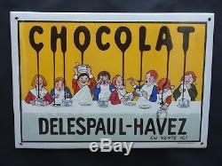 Plaque émaillée chocolat delespaul havez