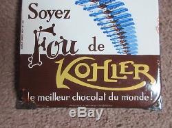 Plaque émaillée chocolat kohler