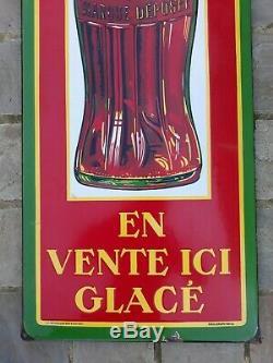 Plaque emailleé coca cola 1937