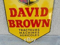 Plaque émaillée david brown publicitaire tracteur machine agricole eas