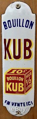 Plaque émaillée de propreté KUB