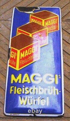 Plaque émaillée de propreté ancienne MAGGI
